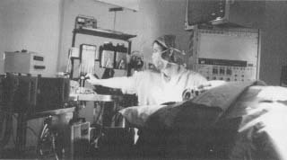 A patient in anesthetized before surgery. Today's anesthetist is a highly trained specialist who administers several anesthetics at the same time.