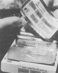 The first disposable lens was introduced by the Johnson 8 Johnson Company in 1987. Sold under the brand name Acuvue, the lenses were designed to be worn for up to one week, then thrown away.