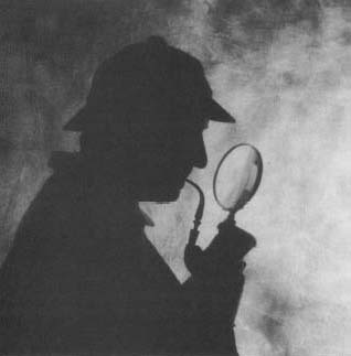 A magnifying glass in use. Most magnifying glasses are double-convex lenses used to make objects appear larger.